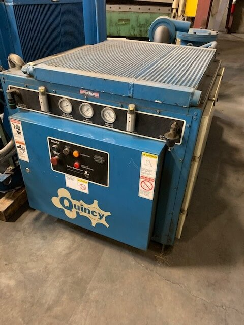 Quincy 50 Hp Rotary Screw Air Compressor Pearl Equipment